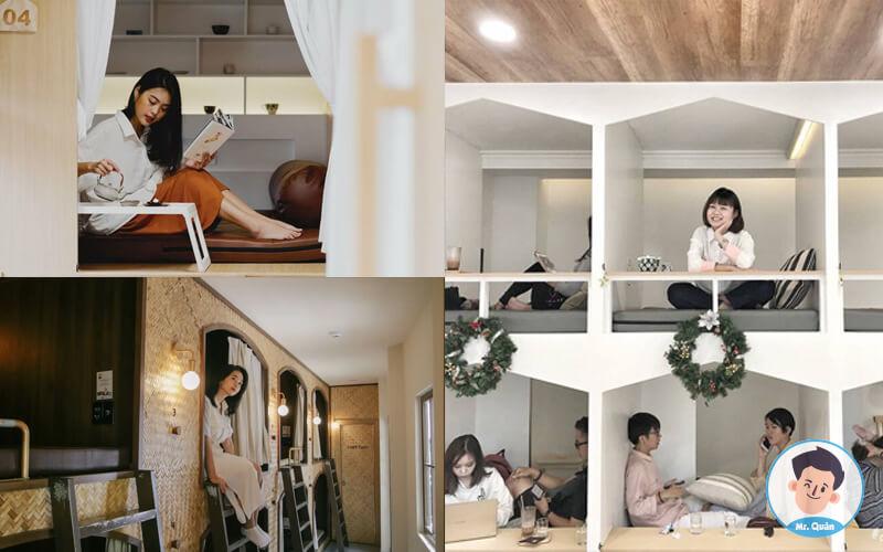 Quán cafe có phòng riêng cho 2 người Chidori coffee in bed