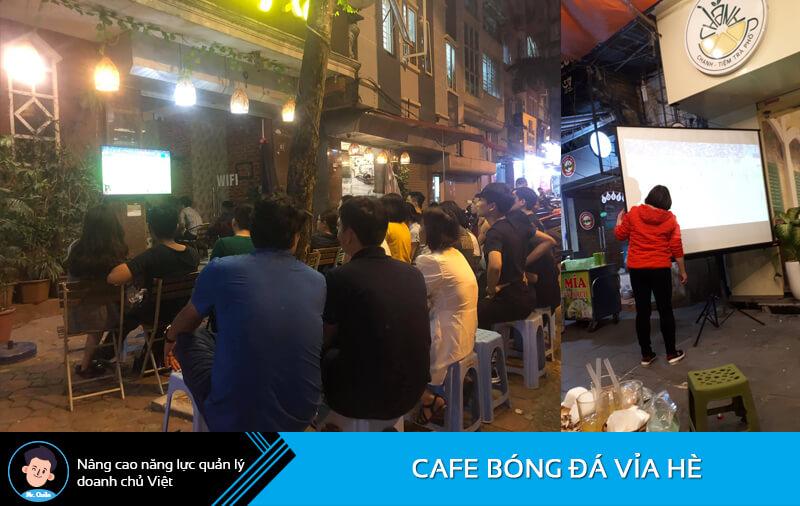 Cafe bóng đá vỉa hè