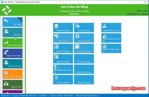 Phần mềm Dân Trí Soft miễn phí mảng nhà hàng, cafe