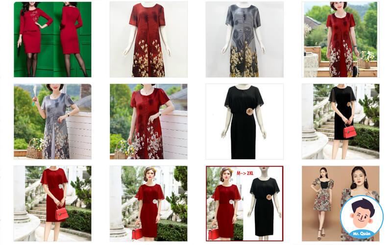 Cửa hàng thời trang trung niên Nét Việt