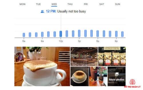 Google thống kê số lượng khách đến quán cafe
