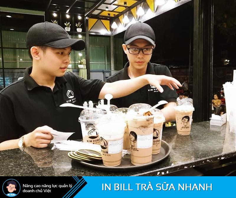 In bill tính tiền trà sữa nhanh