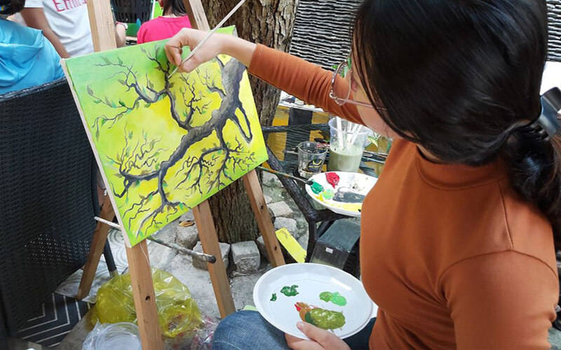 Chương trình vẽ tranh tại quán cafe