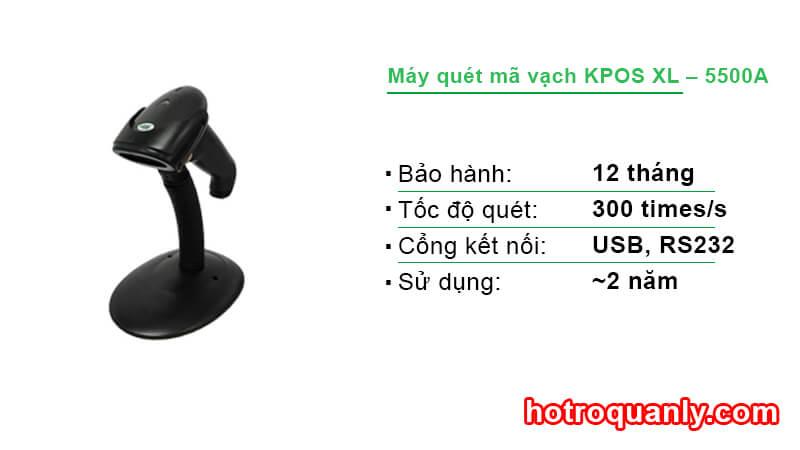Máy quét mã vạch KPOS XL – 5500A