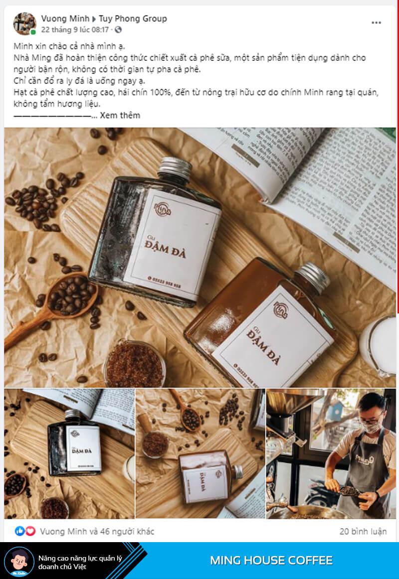 Minghouse Coffee thích nghi với dịch Covid-19