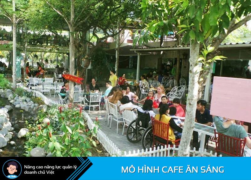 Mô hình quán cafe ăn uống