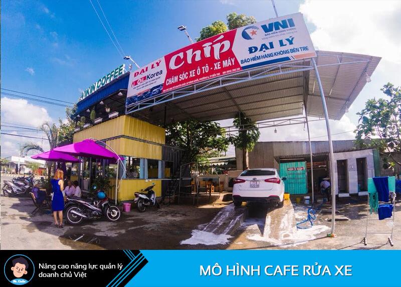 Mô hình cafe rửa xe