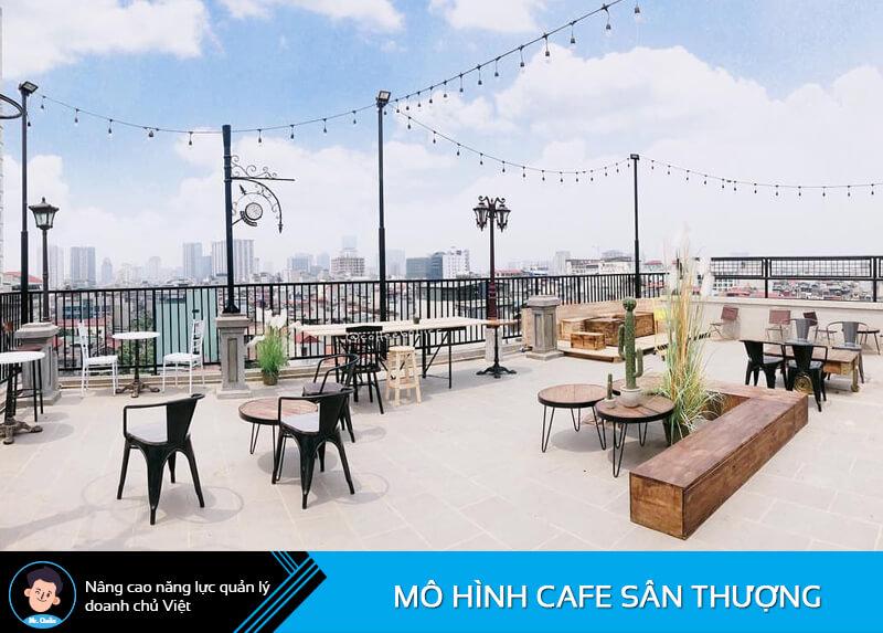 Mô hình quán cafe sân thượng