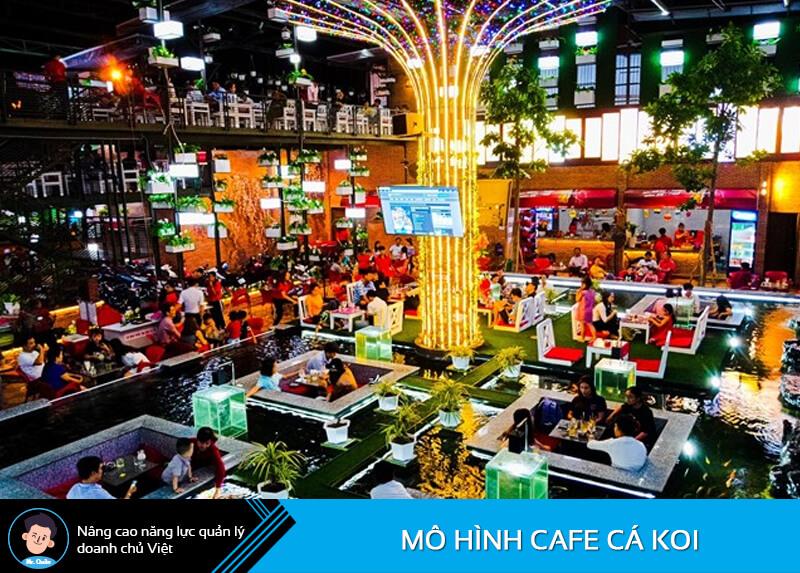 Mô hình quán cafe cá Koi