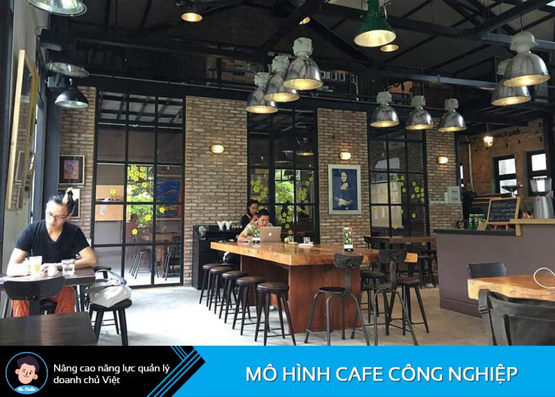Mô hình quán cafe Công Nghiệp