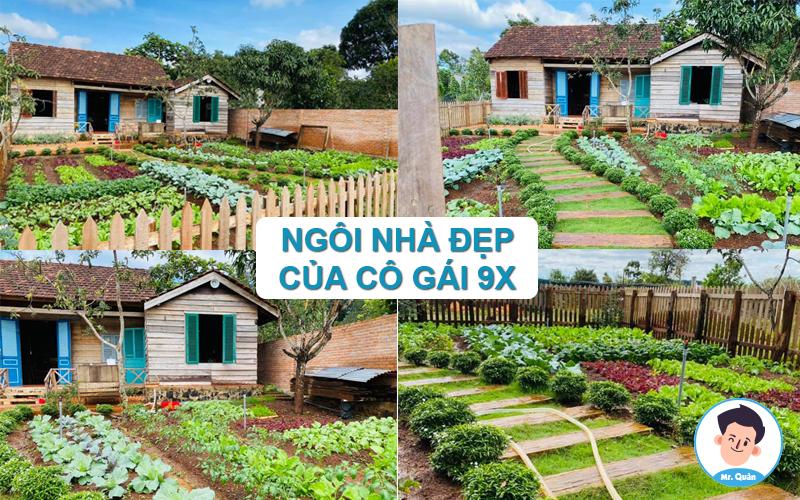 Ngôi nhà có vườn rau đẹp của cô gái 9x