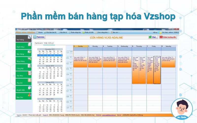 Phần mềm bán hàng tạp hóa vzsoft