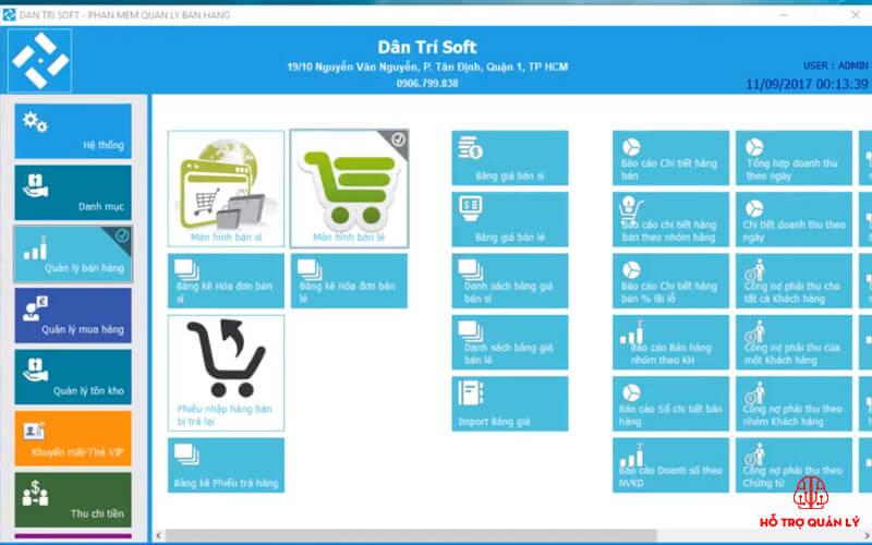 Phần mềm quản lý bán lẻ Dân Trí Soft