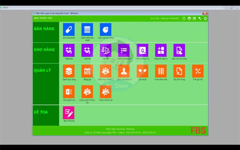 Phần mềm quản lý nhà thuốc Xpharma