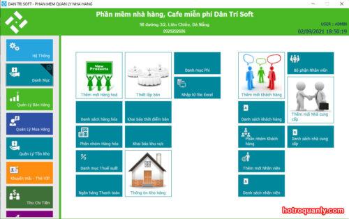 Phần mềm quản lý nhà hàng, cafe Dân Trí Soft miễn phí
