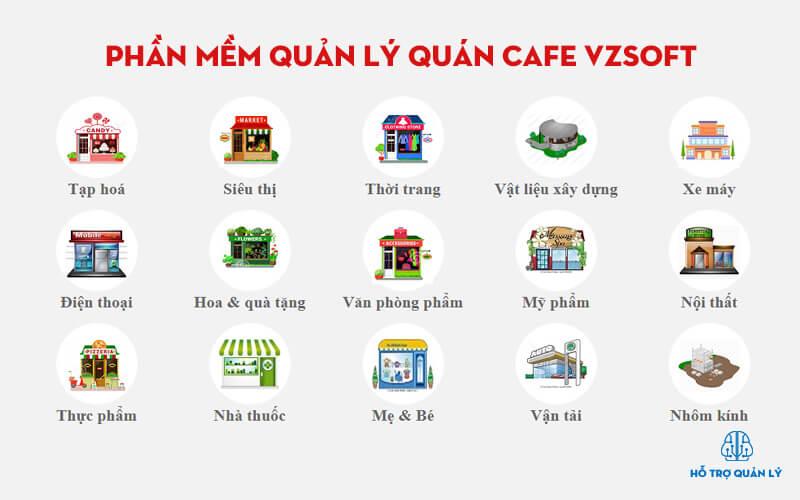 Phần mềm cafe vzsoft