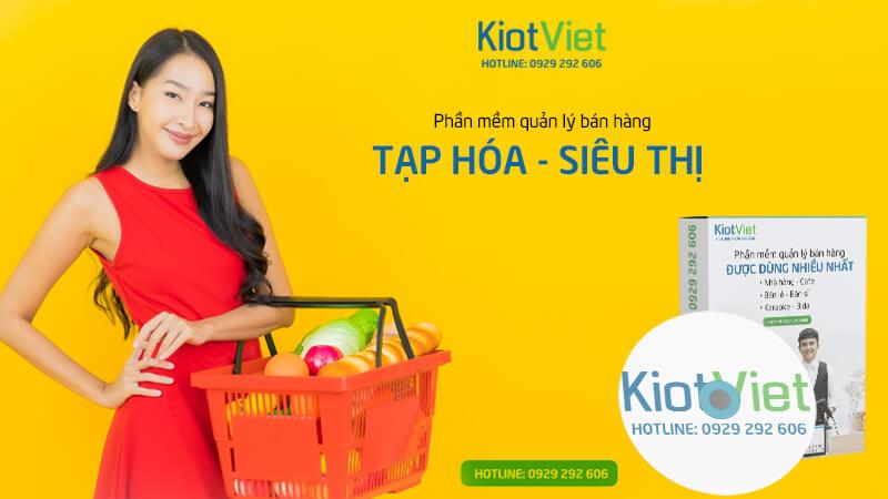 Phần mềm quản lý tạp hóa siêu thị KiotViet