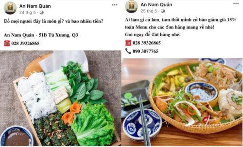 Viết quảng cáo về một món ăn An Nam Quán