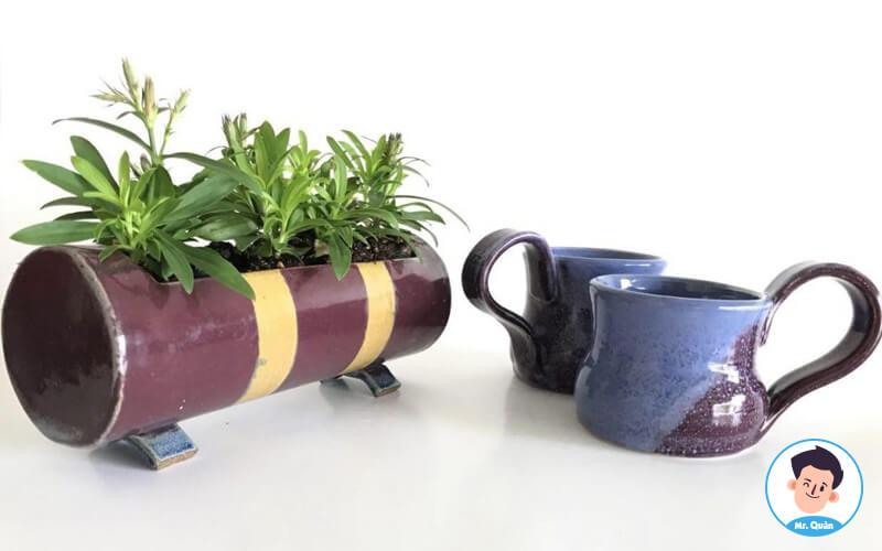 Trang trí bàn quán trà sữa bằng cây