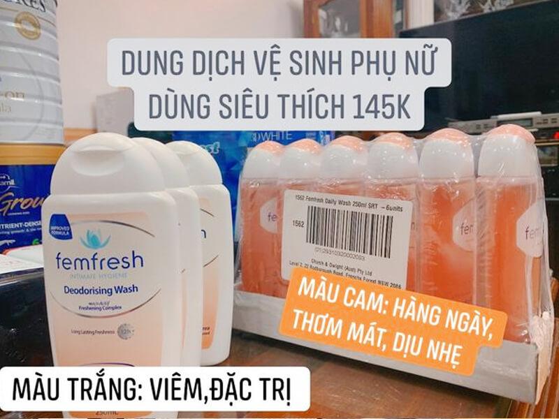 Sản phẩm dung dịch vệ sinh nữ đắt hàng